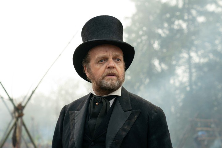 """Toby Jones, one of the familiar faces on """"Firts Cow.""""  Photo MUBI"""