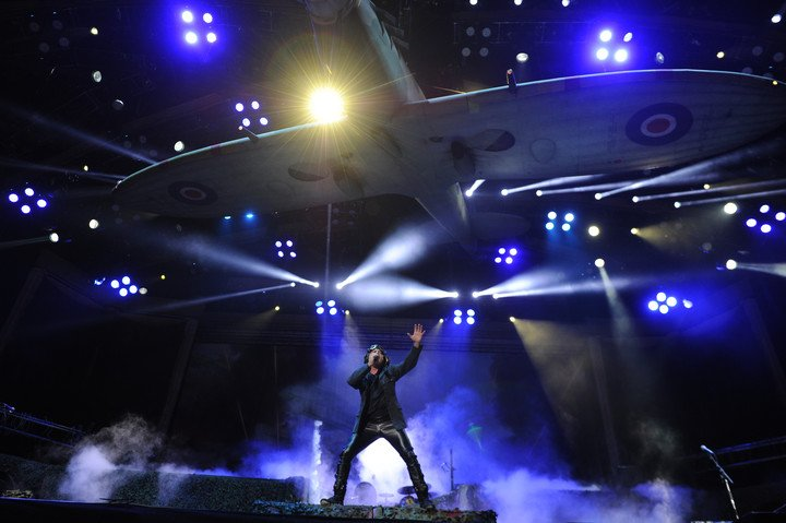 Iron Maiden's last step through Buenos Aires was with a devastating show at the Vélez stadium, in October 2019. Photo Juano Tesone