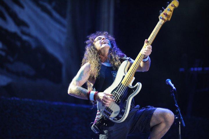 Steve Harris pointed out that there are very complex songs on the album, which they had to work hard on.  Photo Juano Tesone