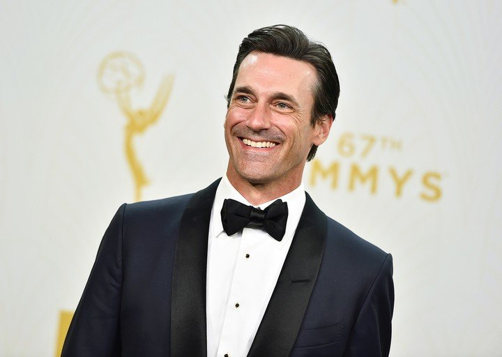 """Pure smile.  Jon Hamm made too much money off """"Mad Men"""" to play roles that don"""
