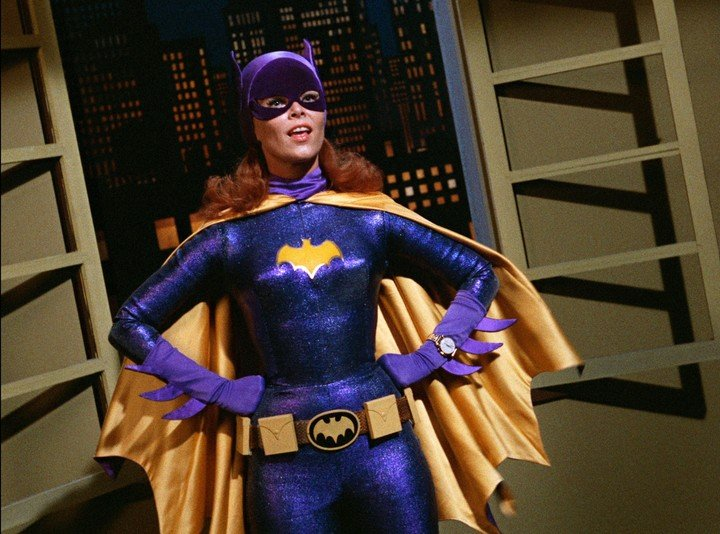 A classic gesture from Yvonne Craig, who brought the most famous Batgirl to life.  Photo Warner Bros. Entertainment Inc via AP