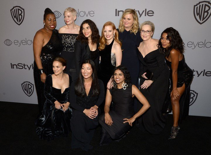 During the Golden Globes delivery in 2018, the actresses dressed in black in a message against gender violence and accompanied it with a pin that said Time's Up in support of the initiative against sexual harassment at work.  Photo: AFP.