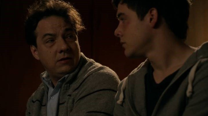 Fernán Mirás and Renato Quattordio, in a scene from the series.