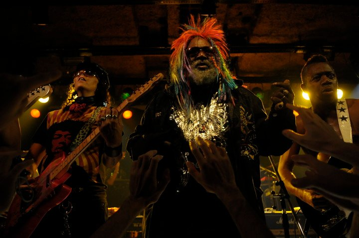 In 2009, George Clinton commanded a selection of musicians who knew how to warm up the audience with an unforgettable cocktail of black sounds.  Photo Andrés D'Elía