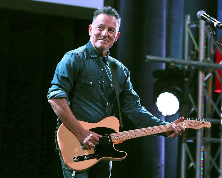 Bruce Springsteen, ready to play.  Mayor De Blasio said the concert will be one of the largest in Central Park.  AP Photo