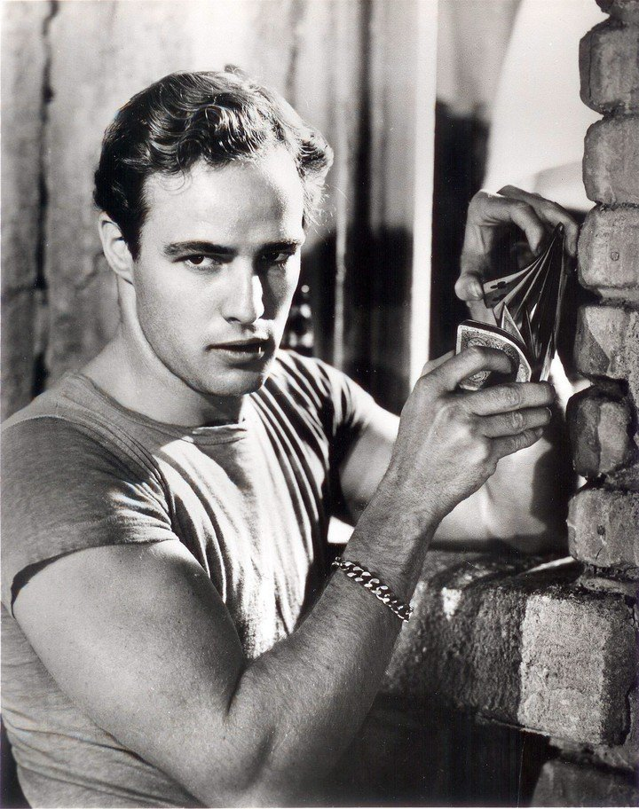 """Marlon Brando.  At the age of 27, the actor caused a sensation with his performance and his tight shirts in """"A Streetcar Named Desire, the film directed by Elia Kazan."""