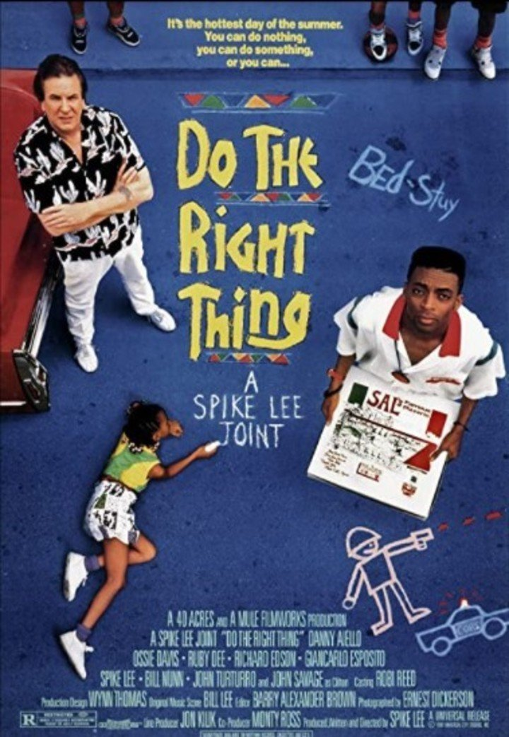 """The poster for """"Do the Right Thing"""", the Spike Lee film."""