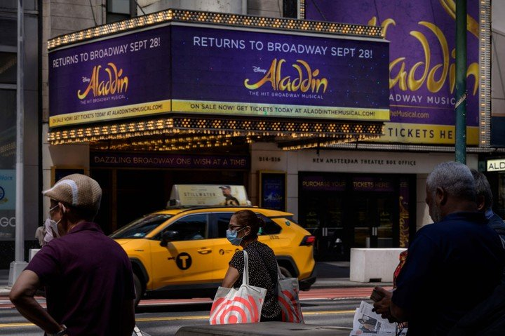 """The Genie from """"Aladdin"""" may be magical, but he could not prevent theaters from closing since March 2020. AFP Photo"""