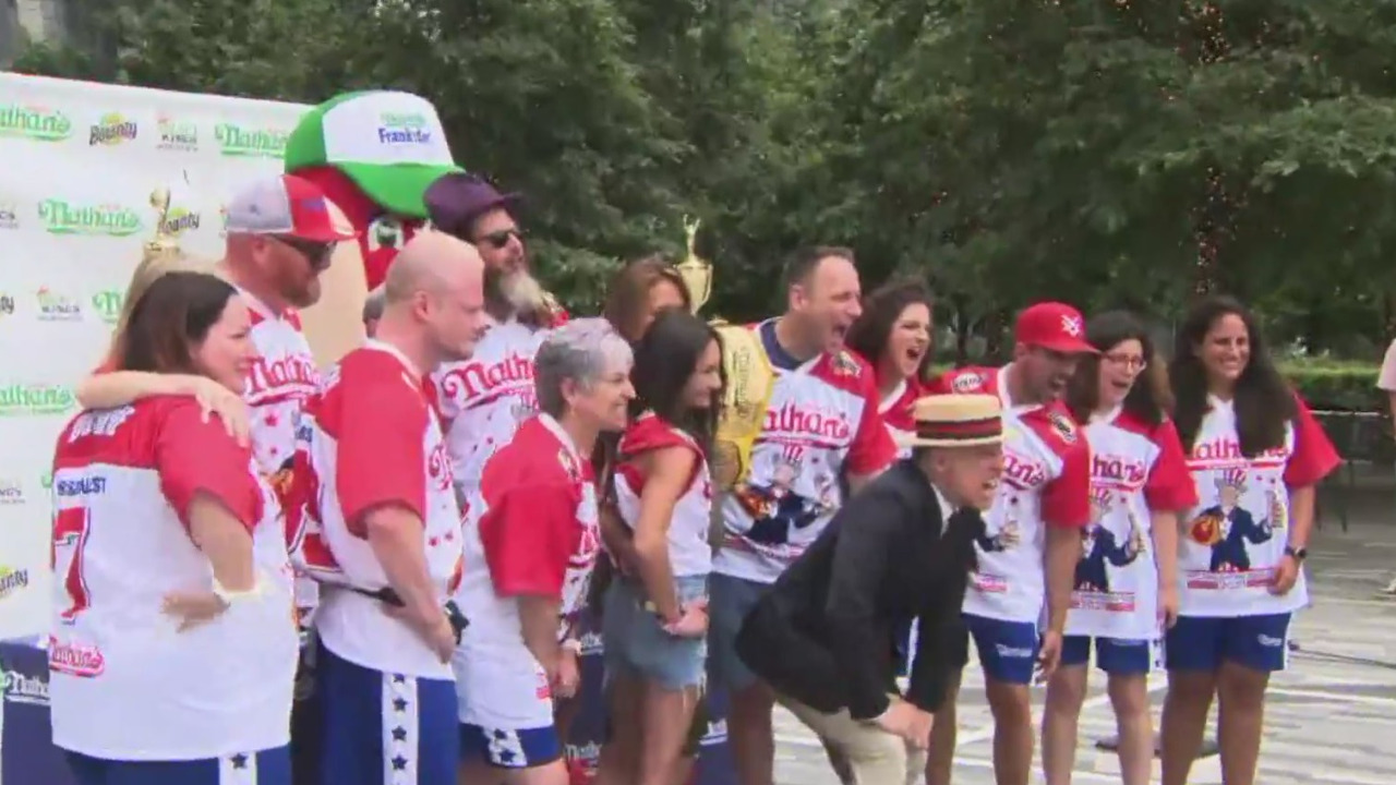 July 4 festivities: Competitors prepare for Nathan's Famous hot dog eating contest