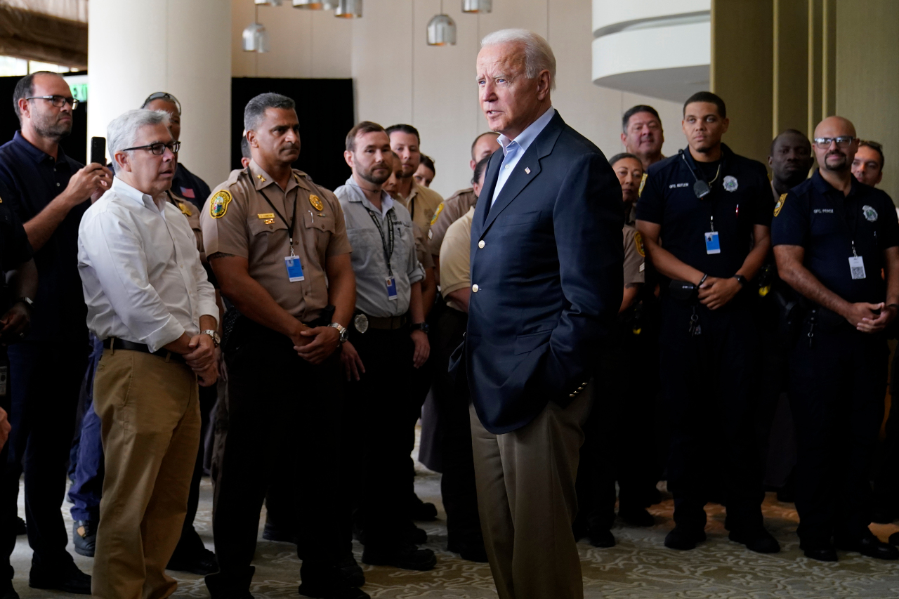 LIVE: Biden tells families affected by Florida condo collapse to 'never give up hope'