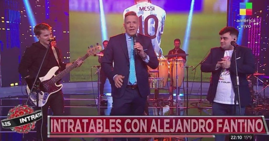 How was the rating of the news on TV and how did La Voz Argentina do?
