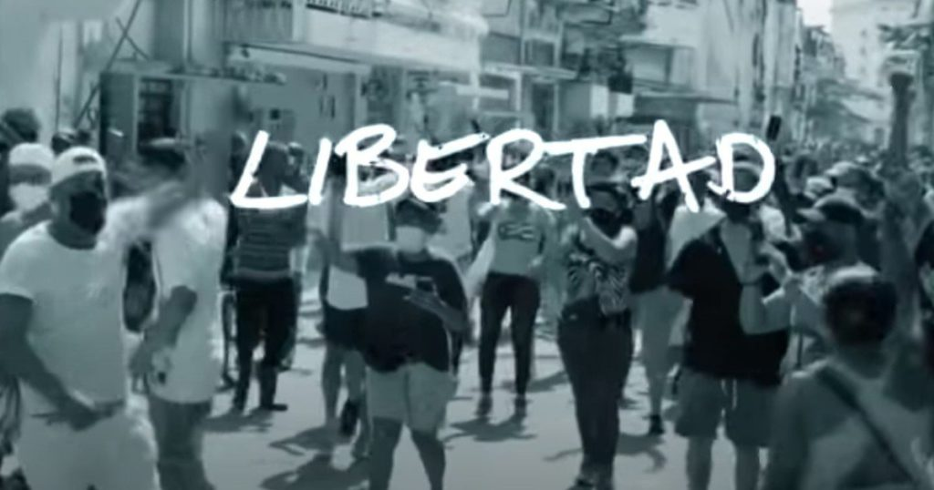 How is Libertad, the song that Emilio Estefan composed in support of the demand for the end of the dictatorship in Cuba