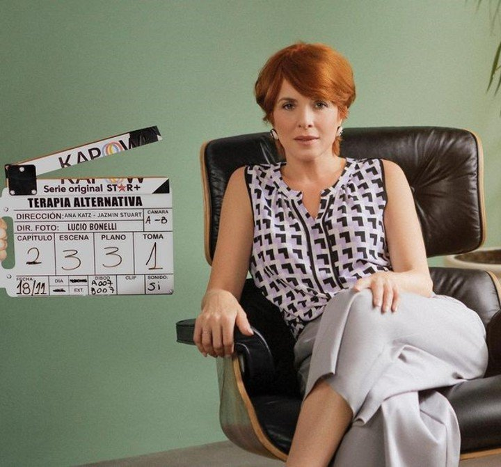 """Carla Peterson composes an eccentric psychologist in """"Alternative Therapy"""".  Photo: Star +."""