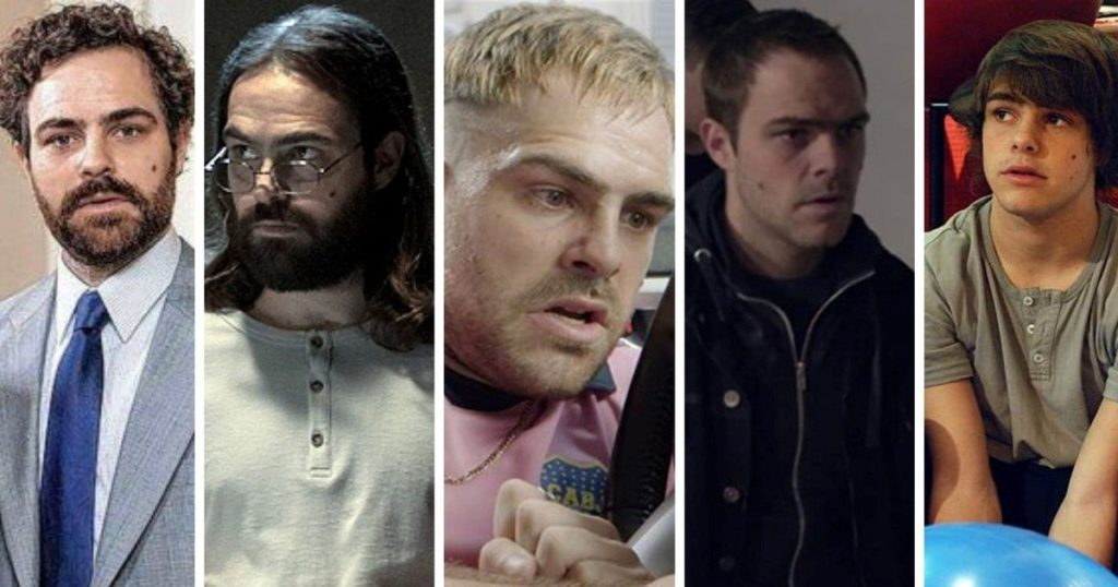 Five faces of Peter Lanzani according to his fictional characters