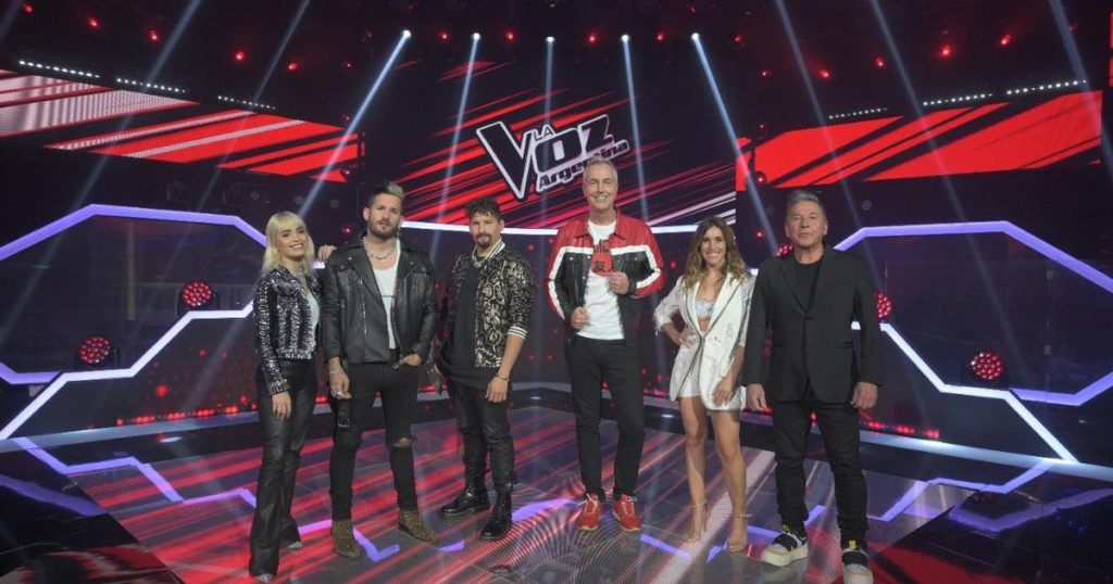 How is the roadmap of La Voz Argentina and what figure of music joins as a coach