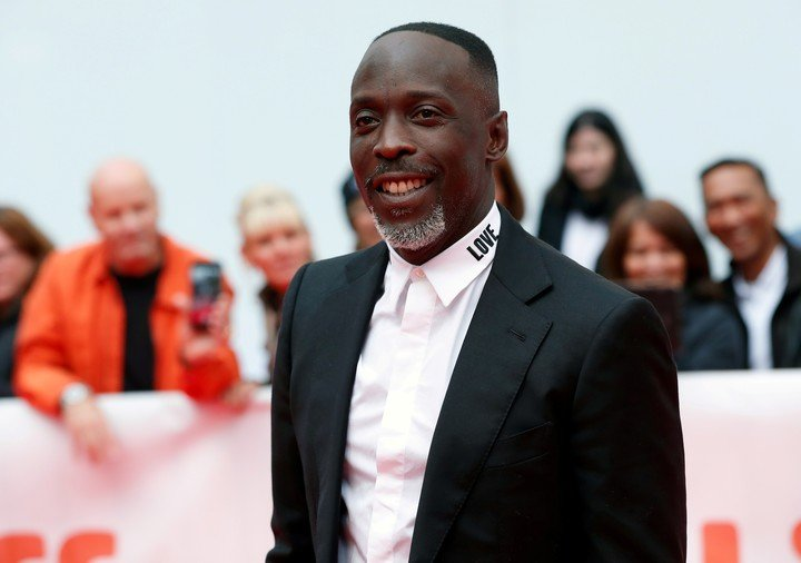 """Michael Kenneth Williams arriving at the premiere of """"The Public"""" at the 2018 Toronto Film Festival. Photo Reuters"""