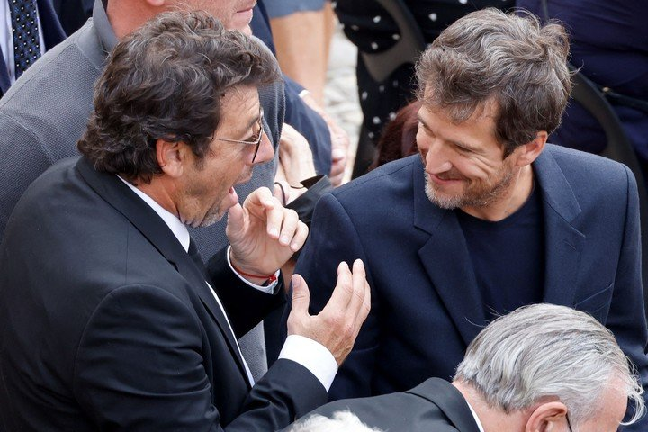 Actor and singer Patrick Bruel and director and actor Guillaune Canet fired their friend Jean Paul Belmondo.  AFP photo