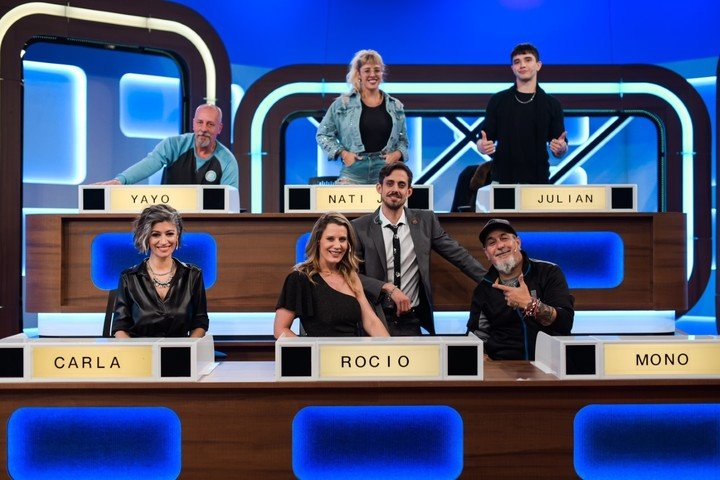 """The six celebrities from the debut of """"Match Game""""."""