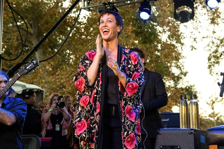 Alanis Morissette is on tour and is opposed to promoting the film in any way.  Photo Amy Harris / Invision / AP