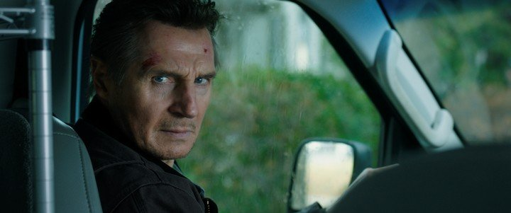 What a face, what a gesture.  Neeson is 69 years old and has a full-fledged career in action movies.  Photo BF Paris