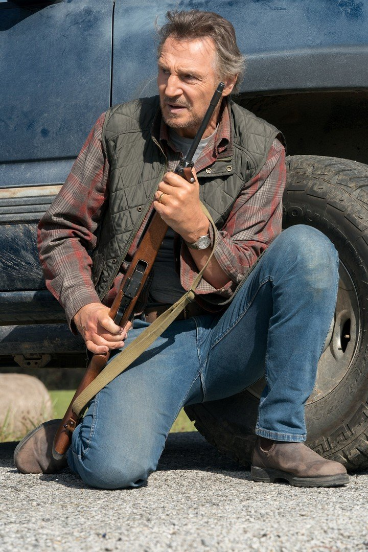 Liam Neeson is Jim, an Arizona rancher who helps a boy hunted by drug traffickers. Photo BF Paris
