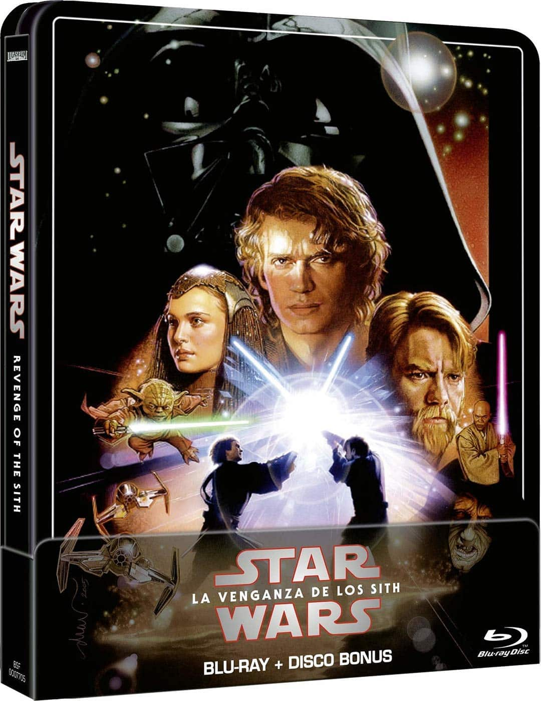 Star Wars Ep III: Revenge of the Sith (Remastered Edition) - 2 Disc Steelbook (Movie + Extras) [Blu-ray]