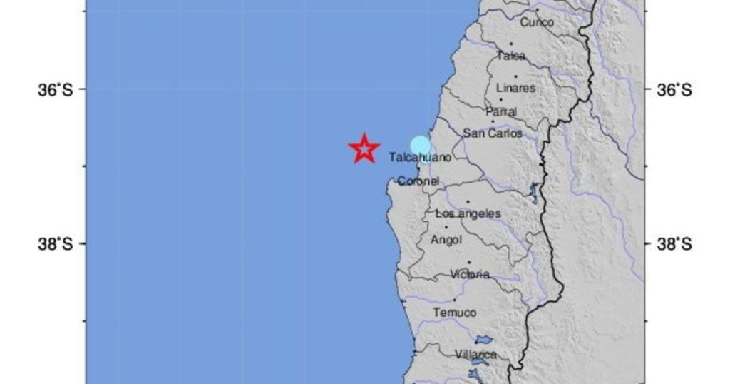 An earthquake measuring 6.6 on the Richter scale shook south central Chile