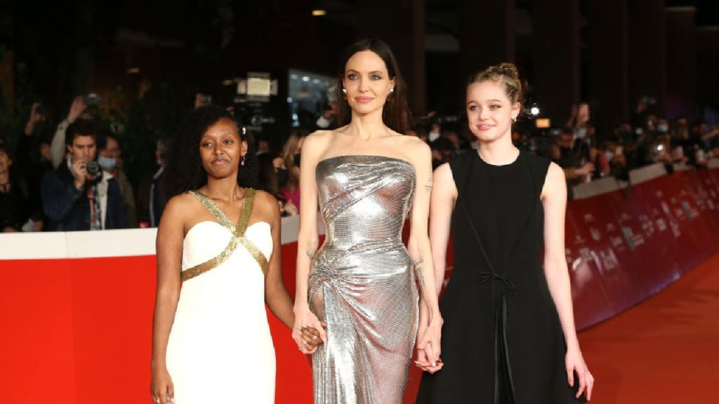 Angelina Jolie Joined by Daughters Zahara and Shiloh at 'Eternals' Rome Premiere