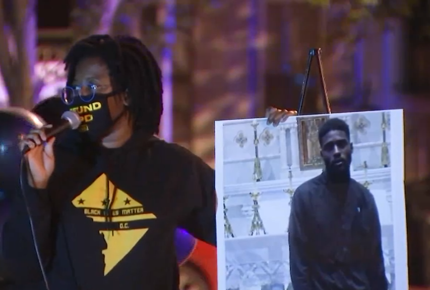 At Vigil for Man Killed by DC Officers, Activists Question Police Response