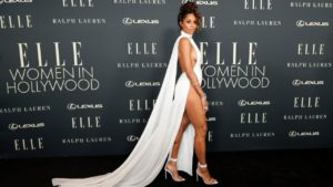 Ciara Stuns in All White at Elle's Women in Hollywood Celebration
