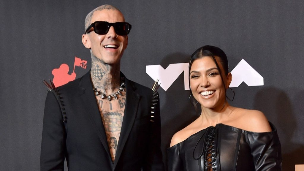 Kourtney Kardashian Supports Travis Barker Backstage at 'SNL' Before His Performance With Young Thug