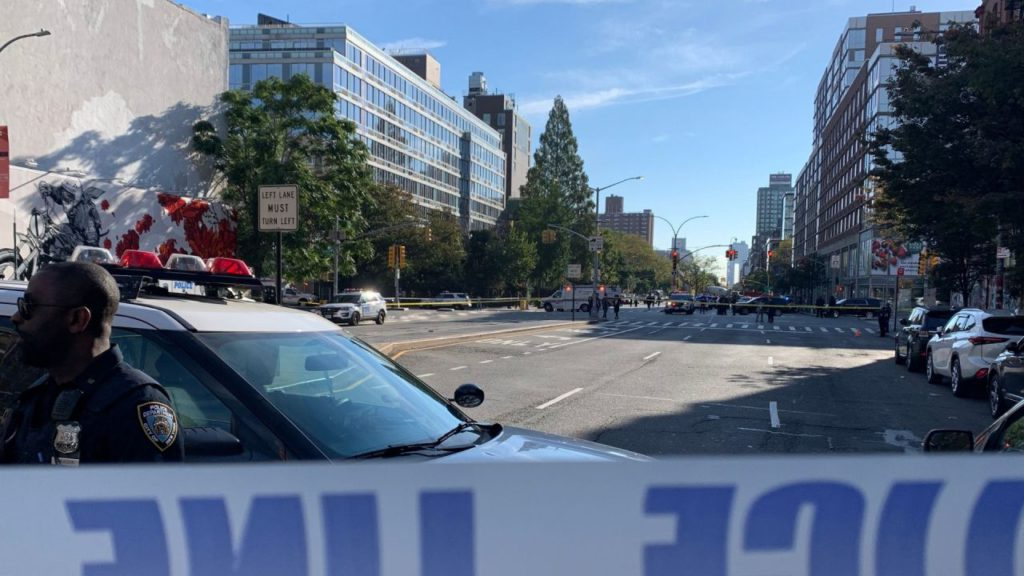 Officer fires gun after man threatens people with knives in Lower Manhattan; no one injured: police