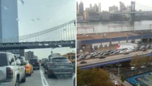 Protesters block traffic on FDR Drive; call on Biden to push climate agenda