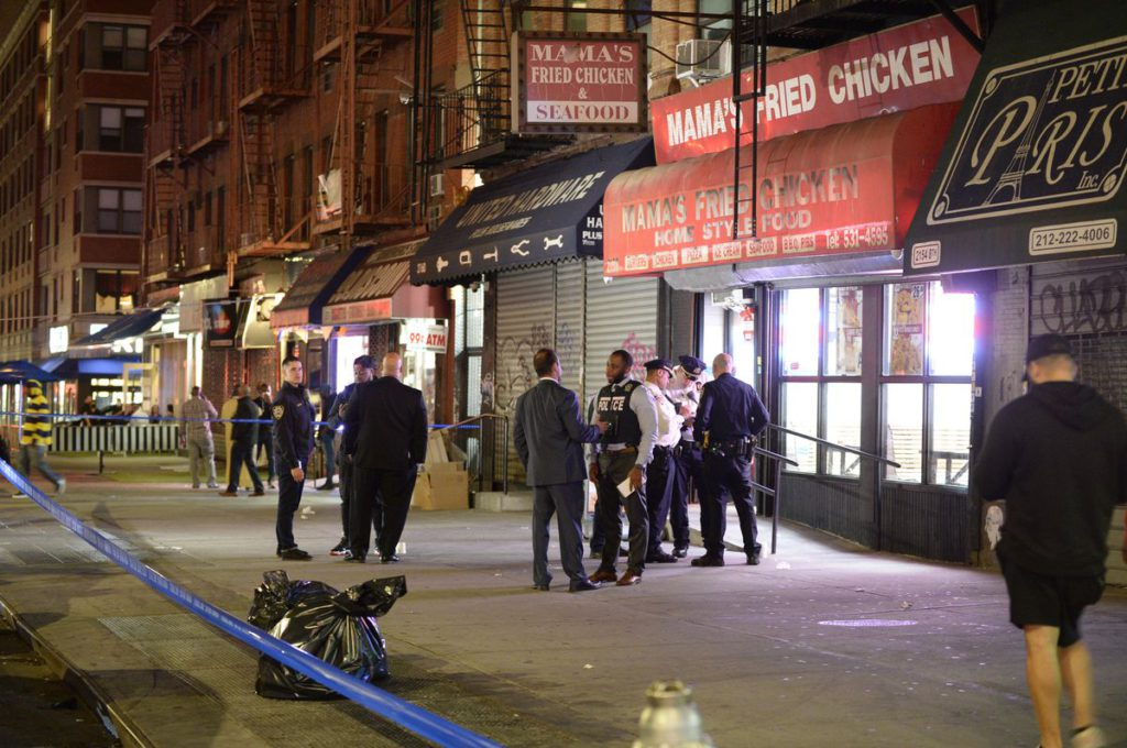 Two teens shot, one critically hurt, as they were having dinner in Harlem chicken restaurant